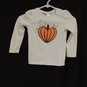 Gymboree girls long sleeved pumpkin tee size 5